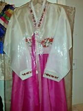 Hanbok is a Traditional Korean dress, beautiful pink color