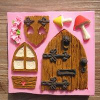 3D Fairy House Door Silicone Cake Fondant Mould Chocolate Decor Mold Baking DIY