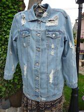 VESTE EN JEAN HOMME FEMME MIXTE jean clair déchiré - taille XL - comme NEUVE