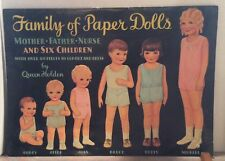 "Queen Holden ""Family of Paper Dolls"" - Uncut - 1985 - Repro of 1950s"