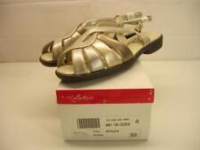 Womens 8 W Wide Tender Tootsies Desire metallic silver comfort sandals slingback