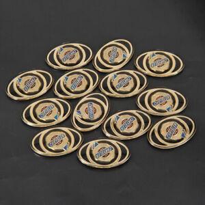 1Pcs Fits 01-03 Chrysler Voyager Grille Emblem Gold Badge Direct-Replace Sticker