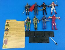 Collectible G.I Joe Action Figure Lot W/Accessories 8 Figures Stands More!!