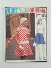Vogue Paris Original 1970 Sewing Pattern #2291 Patou Uncut Sz 10 Bust 32.5""