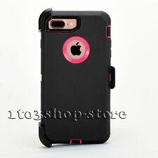 iPhone 7 Plus iPhone 8 Plus Case w/Belt Clip for Otterbox Defender Black Pink