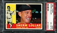 1960 Topps  #495 SHERM LOLLAR Chicago White Sox PSA 6 EX-MT