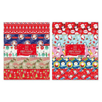 Xmas Gift Wrap Flat Sheets Christmas Wrapping Paper Assorted 10 sheets