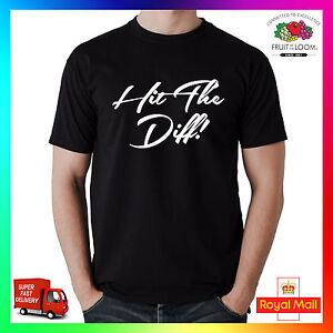 Hit The Diff T-Shirt Shirt Printed Tee Funny N.Ireland Irish LSD Agri Tractor