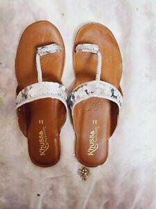 Pakistani/indian kohlapuri chappal/sandal hand made leather, size 6