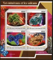 CENTRAL AFRICA  2017 MINERALS AND  VOLCANOES SHEET MINT NH
