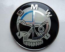 BMW skull logo front hood emblem 1X 82mm for E46 E60 E82 E92 M3 X5 FREE PP