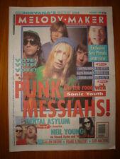 MELODY MAKER 1992 NOV 7 SONIC YOUTH SEX PISTOLS NIRVANA