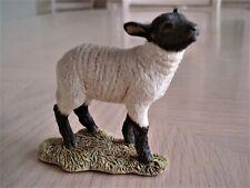 Vintage Sherratt & Simpson Black Face Lamb Sheep Resin Figurine Made in England