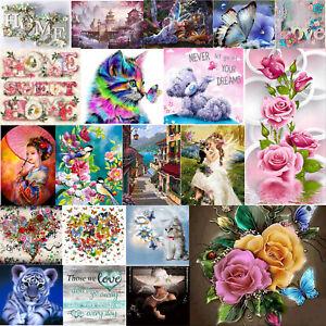 5D Full Drill DIY Diamond Painting Animals Cross Stitch Embroidery Kits Decor UK