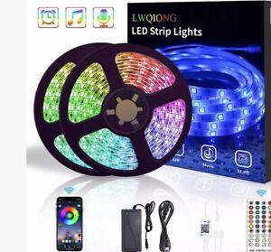Led Strip Lights 32.8ft with 300 LED Lights Color Changing RGB 5050