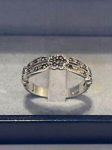 Silber Ring Markasit Pyrit Edelstein 925 Silber Art Deco Antik rar Vintage