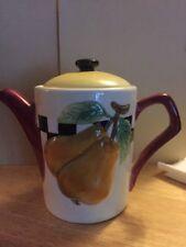 Enesco Vintage Yellow teapot pear theme Multicolors