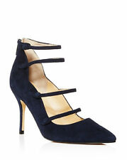 Ivanka Trump Dritz Dark Blue Suede Pointed Toe Mary Jane Pumps Shoes 8.5 M NEW