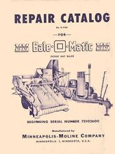 Minneapolis Moline Bale O Matic Hay Baler Parts Manual
