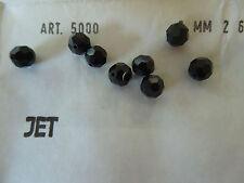 Swarovski Art 5000 Vintage Jet black 6mm facetted 72pieces