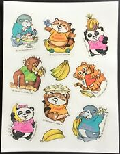Sheet of Vintage Scratch & Sniff Stickers - Hallmark - Shirt Tales - Mint!!