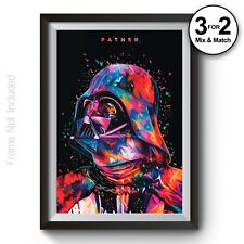 Darth Vader Poster - Star Wars Movie Wall Art Print on 100% Cotton Giclee Paper