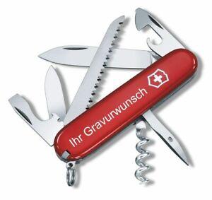 Victorinox Schweizer Taschenmesser Camper rot mit Gravur Geschenk Wunschname