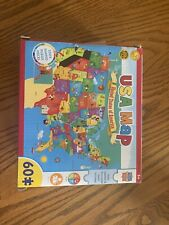 MasterPieces USA Map Jigsaw Puzzle With State Capitals. Pieces Are State Shaped