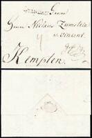 1791, LINDAU, Fuhrmanns-Portobrief zu 4 Kr. n. Kempten (Zumstein Korrespondenz)