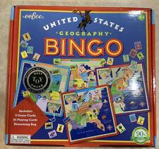 eeboo US Geography BINGO Game - New - Sealed - Quick Shipper