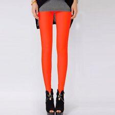 New ladies wet look Dance Neon Candy Shiny Yoga Disco Leggings Pants Trousers