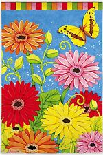"""Evergreen"" Bright Gerber Daisies Garden Mini Flag free shipping"