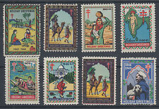 India, 1941-1948 Christmas Seals MNH. First 8 Years of Issue VF