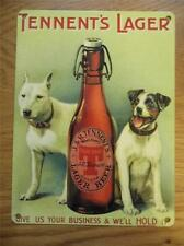 RETRO VINTAGE STYLE METAL WALL SIGN PLAQUE -TENNENTS LAGER-GIVE US YOUR BUSINESS