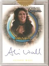 Xena Art and Images autograph Binder card Alison Wall as Minya A54 Razor