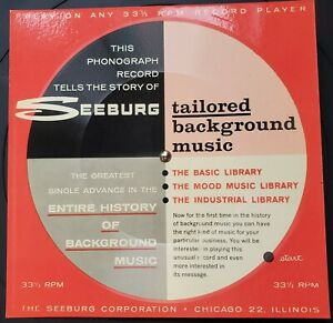 1960 Sales Demo Cardboard Record for the Seeburg 1000 Background Music System