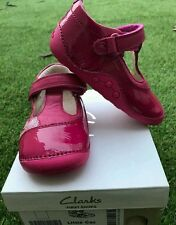 "Clarks girls ""Little Caz"" shoes UK 4.5G Eur 20.5 G -bnib"