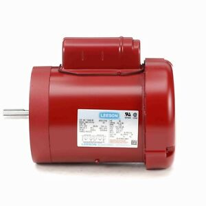 110493.00 3/4HP LEESON Electric Motor, Tefc, 1725 Rpm, 56C Frame, 1 Ph. 115/230V