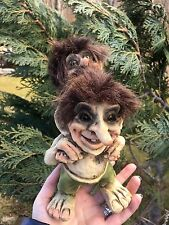 Large Norwegian Troll Trolls Faerie Faery Doll Figure Statue From Arctic Norway