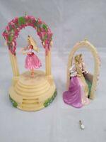 Hallmark Ornament lot of 2 Barbie 12 Dancing Princesses Ballerina & Rapunzel