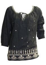 Camisas y tops de mujer sin marca color principal negro 100% algodón