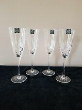 """Thomas Webb English Crystal 8.75"""" Fluted Champagne Glass Set of 4 Romeo ~~EUC~~"""