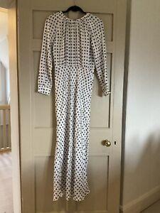 Max Mara Women's Black White Star Printed Silk Maxi Dress. UK 10. Worn Once £265