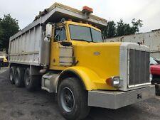 Peterbilt Tri Axle Dump Truck 1994 18 Ft Heated Aluminum Body Cat 8 Spd Manual