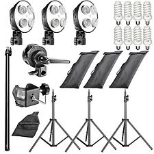 Neewer Five Socket Softbox Compact Fluorescent Photo Video Studio Lighting Kit