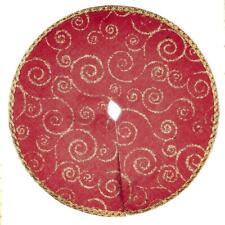 Puppenhaus Rot & Gold Weihnachtsbaum Rock Miniatur 1:12 Maßstab Zubehör