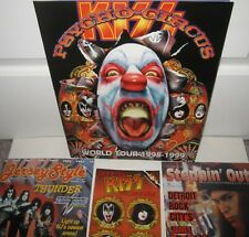 KISS PSYCHO CIRCUS TOUR BOOK PROGRAM MAGAZINE ACE FREHLEY 4 ITEMS