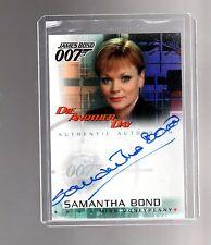 "James Bond ""Die Another Day"" A4 Samantha Bond auto card"
