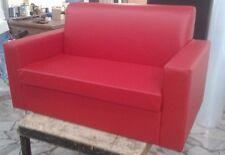 Divano due 2 posti Divanetto Rosso tessuto ecopelle sofà poltrona relax sedia