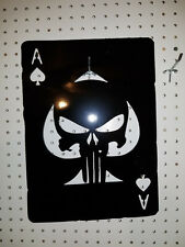 ACE OF SPADES PUNISHER WALL ART. CNC PLASMA Metal DECOR HAND MADE IN WACO TX